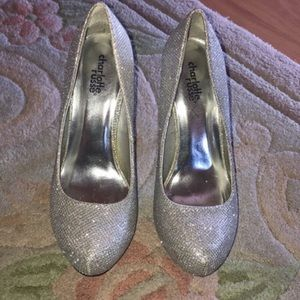 Sparkly Silver High Heels Size 6